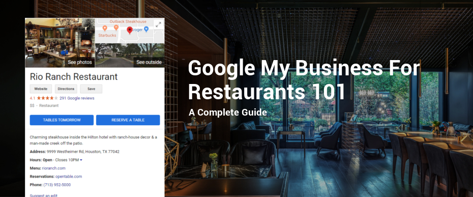 Google My Business For Restaurants 101 a complete guide