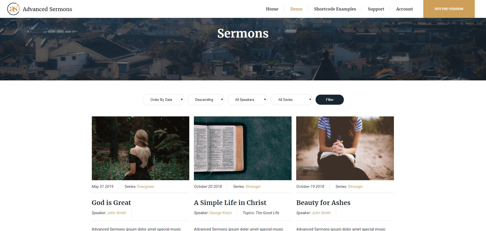 Advanced Sermons Archive